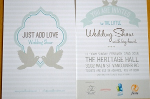 Wedding Fair in Vancouver. Hope to see you there! :)