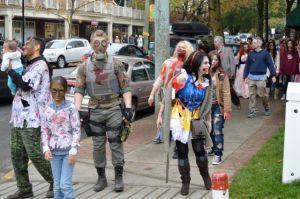 Zombie Walk in Fort Langley October 19, 2013