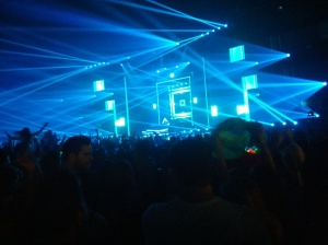 The lighting was amazing at Hardwell's concert.